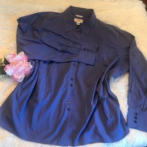 Talbots Blouse Wrinkle Resistant Stretch - 24W P